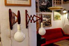 Resultado de imagen para lamparas y apliques de pared hecho con maderas de obras