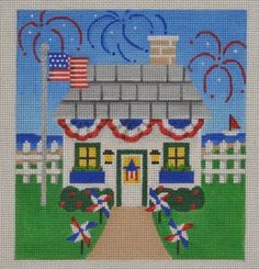 HH04 Patriotic Holiday House