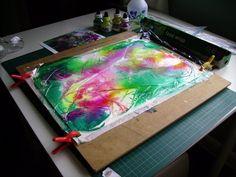 Coleus, demo, Acrylic inks. - WetCanvas