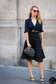 Alexandra Golovanoff before Hermes fashion show. STYLE DU MONDE on Instagram @styledumonde, Pinterest, Twitter, Tumblr and Facebook