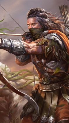 1080x1920 Wallpaper legend of the cryptids, man, archer, art