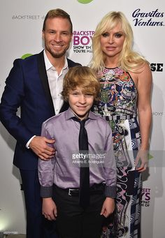 Singer Brian Littrell, Baylee Littrell and Leighanne Littrell attend the premiere of Gravitas Ventures' 'Backstreet Boys: Show 'Em What You're Made Of' at on January 29, 2015 in Hollywood, California.