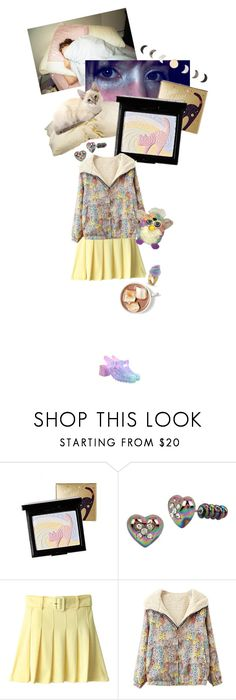 """""""falling asleep with my make up on"""" by she-is-mystery ❤ liked on Polyvore featuring Holika Holika, Betsey Johnson, Chicnova Fashion, Sretsis and Hot Topic"""