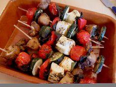 Feta - Gemüse - Grillspieße mit Salbei (Rezept mit Bild) | Chefkoch.de