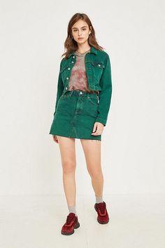 f66545f4c Slide View  5  UO Austin Notched Mini Skirt Latest Fashion