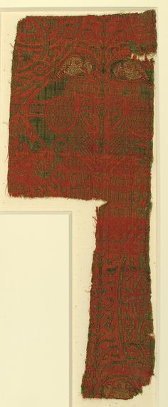 Textile with Brocade Date: ca. 1200 Culture: Spanish Medium: Silk, gilt silver thread Accession Number: 17.121.3