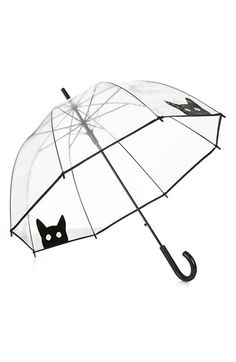 """Free shipping and returns on Topshop Cat Umbrella (Brit Pop-In) at Nordstrom.com. <p><B STYLE=""""COLOR:#990000"""">Pre-order this style today! Add to Shopping Bag to view approximate ship date. You'll be charged only when your item ships.</b></p><br>Get ready for rain right about meow with this clear dome umbrella printed with peekaboo cats."""