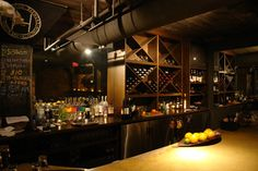Hinterland Brew Pub, Green Bay. Nice atmosphere and wine holders.