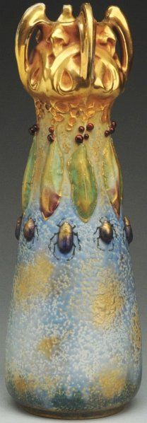 """Multiglazes with glossy gold. Amphora crown and oval marks. Illustrated in """"House of Amphora"""