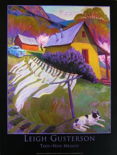 white-wash-in-the-wind-poster~~ Leigh Gusterson Taos New Mexico, Mexico Art, Southwest Usa, Southwestern Art, Street Painting, Mexico Travel, Illustration Art, Illustrations, Fantasy Characters