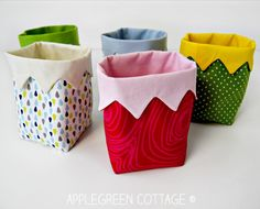 A new PDF sewing pattern and an easy beginner sewing project. It's a cute little handy DIY fabric bin, an easy and quick sew. And a great scrap buster. Makes an excellent handmade present !