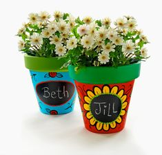 Plaid Kids Crafts presents these adorable flower pots to decorate this spring!