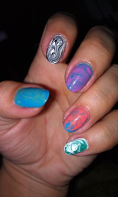 multi-color dry marble
