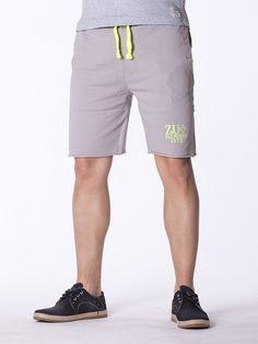 Pantaloni scurti barbati ZU - bej Bermuda Shorts, Sport, Interior Design, Men, Fashion, Nest Design, Moda, Deporte, Home Interior Design