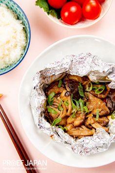 Japanse paddenstoelpakketjes | Proef Japan Asian Recipes, Ethnic Recipes, Japchae, Sushi, Side Dishes, Bbq, Food And Drink, Veggies, Favorite Recipes