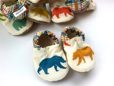 bear baby shoes by ScooterBooties, $24.00 on etsy.com - Love these cute little shoes. The soft sole will make it easier for our little guy as he learns how to walk, too.