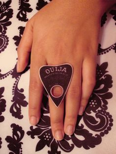 Ouija Board Planchette Ring by TheFuneralParlor on Etsy, $9.00