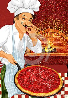 © Elena Mikhaylova   Dreamstime.com- Pizza Chef with just cooked hot pepperoni pizza