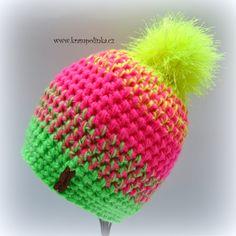 Kulíšek Tulip Neon Ombre s videonávodem – Krampolínka Crochet Beanie, Knit Crochet, Crochet Hats, Tulips, Crochet Projects, Headbands, Diy And Crafts, Christmas Crafts, Homemade