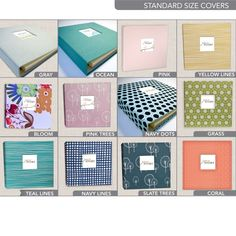 Modern Baby Memory Book for Baby's First Year by EdnaMae on Etsy, $65.00 Like the Teal Lines and Grass book