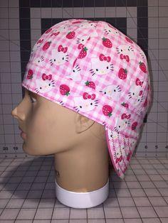 42f861b29455 Welding Cap Female Hello Kitty Pink Strawberries Large White Polka Dots.  Dots ClothingWelding ...