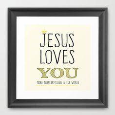 Jesus Love You Framed Art Print