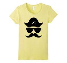 Funny Pirate Shirt | Mustache T-Shirt | Glasses Shirt #pirate #glasses #sunglasses #mustache