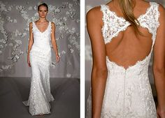 Lace back wedding gowns starts the bridal challenge through the bride designs and gorgeous opening keyhole.