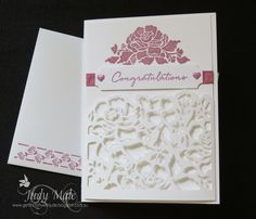 Stampin Up, Floral Phrases, Detailed Floral Thinlits