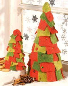 Perfekt Weihnachtsbaum Mit Wollbändern (Idee Mit Anleitung U2013 Klick Auf U201eBesuchenu201c!)