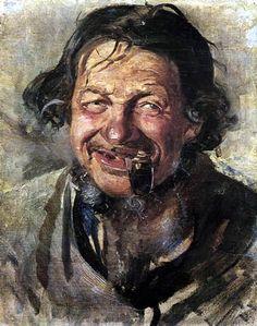 Michael Ancher - Der Lachende Lars Gaihede 1884