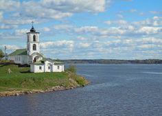 Russia Vologodskaya oblast Kirillovsky District  Petite église à Goritsy, Russie
