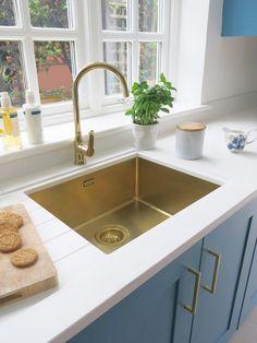 Gold Sink by Alveus Kitchen Shiny Warm Undermount
