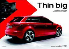 Thin big #Audi #A3 Ad Car, Audi A3 Sportback, Transportation, Driveway Ideas, Behance, Cars, Big, Design Ideas, Social Media
