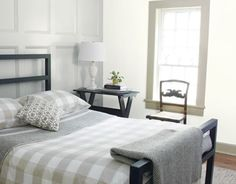 Paneled bedroom with