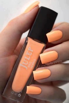 Summer nails! Love this orange sorbet color. - Socialbliss on we heart it / visual bookmark #49028770