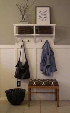 "little ""mud room"" in a small space. this is exactly what i need by my back door."
