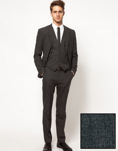 Slim Fit Suit Jacket in Charcoal