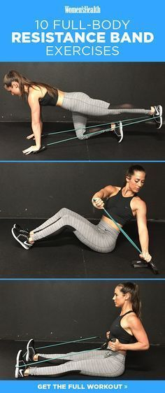 Squats http://www.womenshealthmag.com/fitness/resistance-band-exercises-nikki-metzger?cid=soc_Women's%2520Health%2520-%2520Women's%2520Health%2520-%2520womenshealthmagazine_FBPAGE_Women's%2520Health__