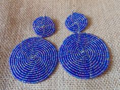 Beaded Earrings-Metallic Purple Blue Variation – Lillon Boutique