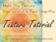 Textures From Scratch In PaintShop Pro