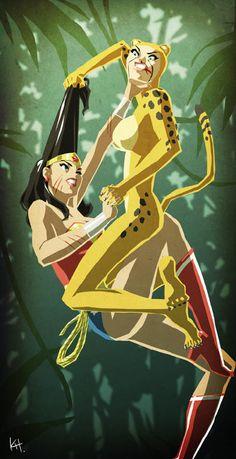 Wonder woman fucks cheetah