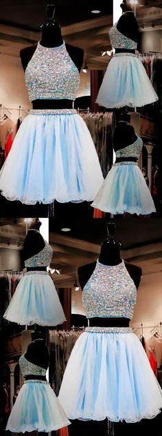 Light Blue Homecoming Dress #LightBlueHomecomingDress, Homecoming Dress Blue #HomecomingDressBlue, Homecoming Dress A-Line #HomecomingDressALine, Homecoming Dress Two Piece #HomecomingDressTwoPiece, Homecoming Dresses 2018