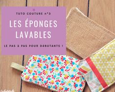 (Tuto Couture) Zero waste: my little washable sponges ultrafaciles! : (Tuto Couture) Zero waste: my little washable sponges ultrafaciles! Diy Couture, Couture Sewing, Couture Fashion, Ski Fashion, Diy Sponges, Diy Blanket Ladder, Produce Bags, Creation Couture, Hacks