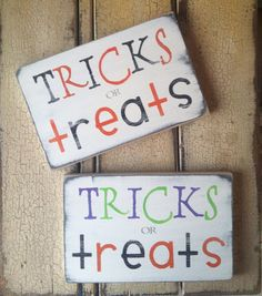 Halloween Tricks or Treats Vintage Style by barnowlprimitives