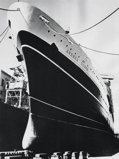 Italian Line ANDREA DORIA in dry dock