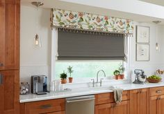 Dress up windows with a custom decorative valance! Inquire with your local Style Consultant today! Decor, Custom Windows, Custom Window Treatments, Kitchen Decor, Budget Blinds, Drapes Curtains, Custom Window Coverings, Designer Drapes, Green Window Coverings