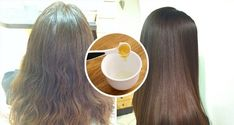 Check How she removed curls and frizzy hair in just 1 hour its awesome! Lighten Hair Naturally, How To Lighten Hair, Naturally Straight, Coconut Oil Hair Growth, Coconut Oil Hair Mask, Diy Hairstyles, Straight Hairstyles, Curly Hair Styles, Natural Hair Styles