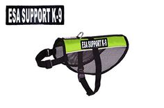 ESA Support K9 Service Dog Emotional Support mesh vest Harness Nylon for Small Medium Large Purchase comes with 2 reflective ESA Support K9 pathces PLEASE MEASURE your dog before ordering * You can get additional details at the image link.