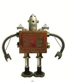 Robot art from Bennett Robot Works in Binghampton, NY. Many more at http://www.bennettrobotworks.com/robots.php